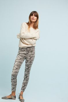 Slide View: 1: Pilcro Mid-Rise Skinny Ankle Jeans