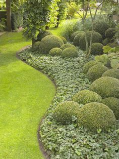 Cheap, creative and modern garden edging ideas for flowers beds and slopes from timber, wood, stone, curved or DIY lawn edging ideas