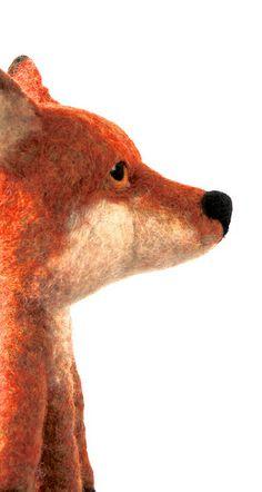 big felt fox - by swig filz felt feutre