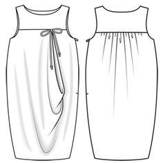 Платье - выкройка № 132 из журнала 9/2011 Burda – выкройки платьев на Burdastyle.ru