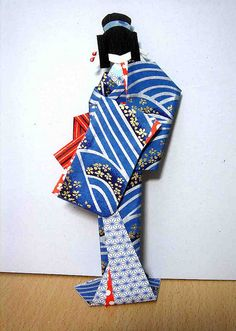 Lady in blue - Hand-made Japanese paper doll by tengds, via Flickr
