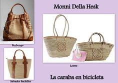 LA CARABA EN BICICLETA...: VERANO EN EL BOLSO Hermes, Wicker Baskets, Straw Bag, Bags, Bicycles, Summer Time, Handbags, Taschen, Purse