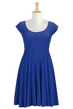 Banded waist cotton knit dress -  eShakti (also in black)