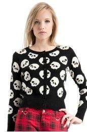 So Many Skulls Cardigan
