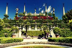 Terrazza con giardino, Isola Bella, Lago Maggiore.