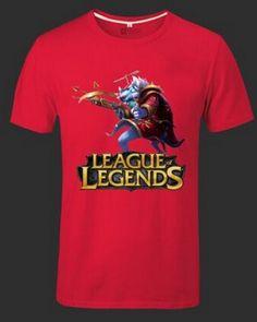 League of Legends XXXL tshirt for men short sleeve Twitch pattern-
