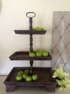 Huge 86cm 3 Tier Wooden Fruit Stand Timber French Provincial Country Cakes Bread | eBay