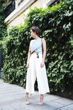 Denim_top-Maurie_And_Eve-White_Cullotte-Street_Style-Outfit | Pinterest: nasti