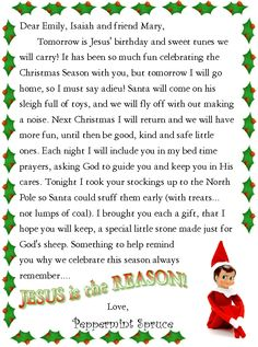 This printable letter from santa is intended for christian families this printable letter from santa is intended for christian families and mentions the appetizers pinterest christian families printable letters and spiritdancerdesigns Images