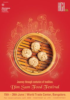 Dim Sum Food Festival poster design on Behance