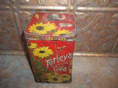 Rare Tetley's India & Ceylon Tea Advertising  Tin by ATokenOfLove, $79.95