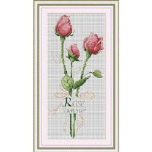 Cross Stitch Kit  Trio of Roses by CrossStitchKitsOnly on Etsy, $10.00