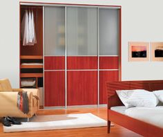 Modern Bedroom With Frosted Plexiglass Closet Doors : Modern Plexiglass Closet Doors Internal Sliding Doors, Sliding Door Systems, Sliding Closet Doors, Sliding Wardrobe, Wardrobe Doors, Wardrobe Ideas, Closet Ideas, 2 Panel Doors, Glass