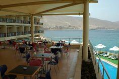 Cappuccino on the terrace anyone? Golden Tulip Hotel, Khasab.