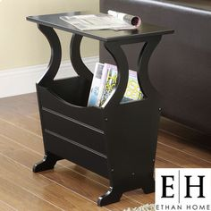 @Overstock - This sleek magazine end table by Astara provides a convenient place for magazines, newspapers, and even TV remotes. They will all be at your fingertips with this black piece made from Asian rubberwood. Style and ease all in one place.http://www.overstock.com/Home-Garden/ETHAN-HOME-Astara-Black-Magazine-End-Table/5563116/product.html?CID=214117 $63.99
