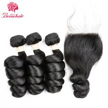 Get HumanHair Products At Cheap Prices  US $52.80     Wholesale Priced Wigs, Extensions, And Bundles!     FREE Shipping Worldwide     Buy one here---> http://humanhairemporium.com/products/beauhair-non-remy-human-hair-loose-wave-3-bundles-with-lace-closure-4-pc-lot-malaysian-hair-weave-bundles-with-closure/  #human_hair