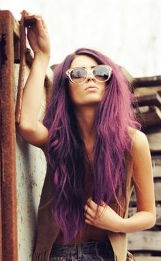 Radiant Orchid hair