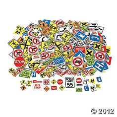 Fabulous Foam Self-Adhesive Safety Signs Shapes, Foam Shapes, Art & Craft Supplies, Craft & Hobby Supplies - Oriental Trading