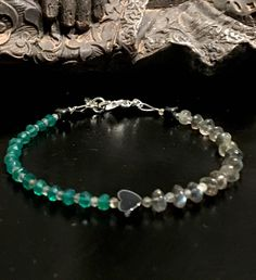 A personal favourite from my Etsy shop https://www.etsy.com/no-en/listing/523970254/sweet-in-green-onyx-green-onyx-bracelet