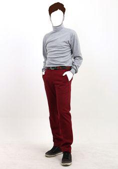 제임스마틴 제이크로우 와인 팬츠모음 (James martin, JCROW Wine pants collection) 하운드투스 패턴 울터치 스판 팬츠  www.jamesmartin.kr/