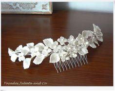 tocado novia porcelana