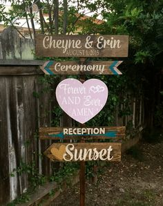 Rustic Wedding Signs Wedding Directional Signs Directional Signs Wedding Decor Wedding Signs