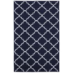 For the pool house...Fancy Trellis Navy Rug (5' x 7') | Overstock™ Shopping - Great Deals on 5x8 - 6x9 Rugs