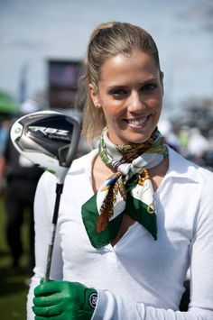 Love this golf scarf and the cute matching gloves by Anna Rawsons Golf Fashion Trends for Women