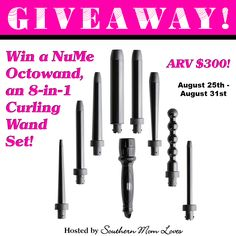 Southern Mom Loves: Win a NuMe Octowand 8-in-1 Curling Wand Set {ARV $300!}…