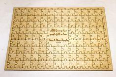 Wooden Puzzle~Wedding Guestbook Alternative (or Graduation, Retirement, etc.)