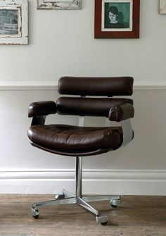 Rare 1960's French Vintage Leather Chair by OrmstonSaintUK on Etsy, £585.00