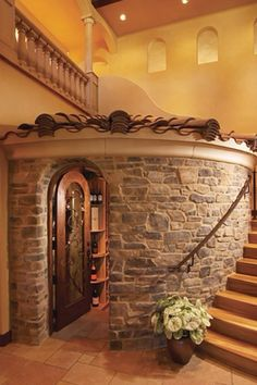 Stone wine room for the future house? Future House, My House, House Inside, House Front, Escalier Design, House Goals, Dream Rooms, Cool Rooms, My Dream Home