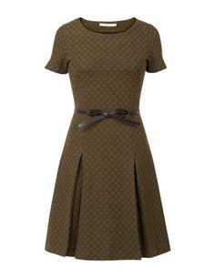 Kort jacquard jurkje Zwart