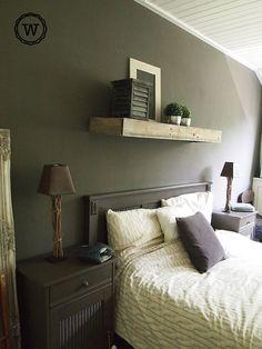 slaapkamer landelijke stijl,