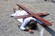 """Good Friday around the world    -->Partaking in Jesus' suffering doesn't necessarily mean whipping oneself, though empathy w/physical pain was part of Jesus' experience. I read """"be like him in his sufferings"""" to be more with being persecuted for choosing to live a Christian life, vs. inflicting that suffering on myself on purpose."""