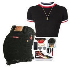 """Untitled #519"" by princessnyaaa ❤ liked on Polyvore featuring UNIF, Vans, Cartier, Gucci and Ray-Ban"