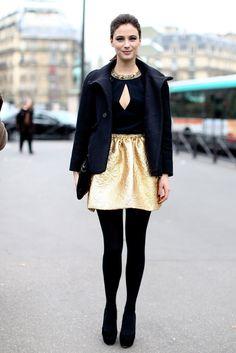 Wanted: a gold metallic mini