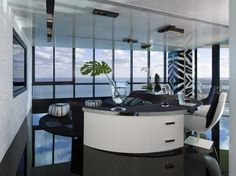 Now I Could Work here every day!!!  Modern home office by Nieto Design Group