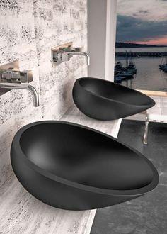 ♂ Contemporary minimalist bathroom sink design toilets on the basement floor Minimalist Bathroom, Modern Bathroom, Modern Sink, Bathroom Sink Design, Bathroom Sinks, Black Bathroom Sink, Bathroom Designs, Bathroom Fixtures, Small Bathroom