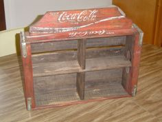 Vintage 1970's Coca Cola Wooden Crate Made Into a Hanging Wall Shelf - Coke Sign #CocaCola