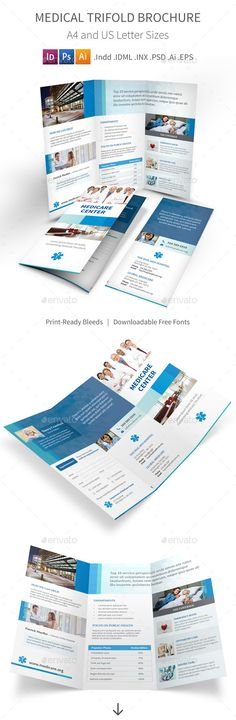 *Save with Bundle! Medical Print Bundle is also available.Medical Trifold Brochure Clean and modern tri-fold brochure for your med