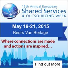 15th Annual European Shared Services & Outsourcing Week On May 19-21, 2015 at 8:00 am-6:00 pm at Beurs van Berlage, Damrak 243, Amsterdam, 1012 ZJ, Netherlands. The 15th Annual European Shared Services & Outsourcing Week hosts Shared Services, Outsourcing, HR, F&A, Procurement & GBS executives for information-sharing, peer-to-peer networking and benchmarking. Tickets: http://atnd.it/16600-1, Category: Conferences. Price: EUR 899 - EUR 2,199, Speakers: Roy Barden, George Connell, John Gregory