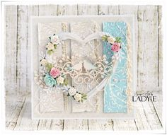Scrap Art by Lady E: 2 Wedding Anniversary Cards - Wild Orchid Crafts DT Shabby Chic Karten, Shabby Chic Cards, Wedding Cards Handmade, Beautiful Handmade Cards, Pretty Cards, Love Cards, 2nd Wedding Anniversary, Anniversary Flowers, Romantic Cards