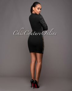 Chic Couture Online - Winslow Black Jeweled Quilted Dress.(http://www.chiccoutureonline.com/winslow-black-jeweled-quilted-dress/)