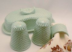 Handmade Ceramic Celadon Covered Butter Dish by BellaTerraCeramics