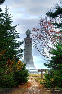 Observation Tower on the Appalachian Trail. Mt. Greylock summit. Adams, MA. 3 exposures, +/- 2EV. Photographer: Dan Villeneuve