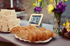 Table for different kinds of desserts, likes pies and cupcakes! -#weddings #desserts