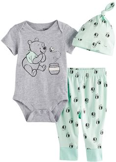 Winnie The Pooch Top+Shorts for Boy Outerwear Kid Clothes Set Cotton Summer INS