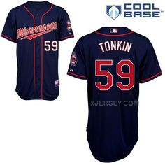 http://www.xjersey.com/twins-59-tonkin-blue-cool-base-jerseys.html TWINS 59 TONKIN BLUE COOL BASE JERSEYS Only $43.00 , Free Shipping!