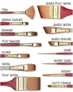 ~Princeton 4050 Bests Synthetic Sable Brushes~